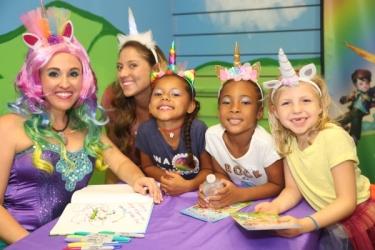 Mermaid Unicorn Author Sheri Fink with Unicorn Fans