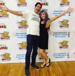Derek Taylor Kent and Sheri Fink at the Bay Area Kids' Book Festival