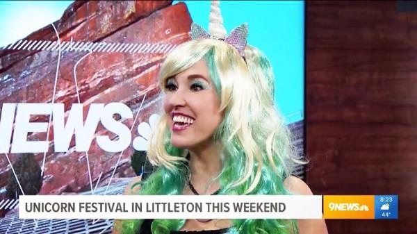 Sheri Fink Interviewed on 9News Denver for Unicorn Festival