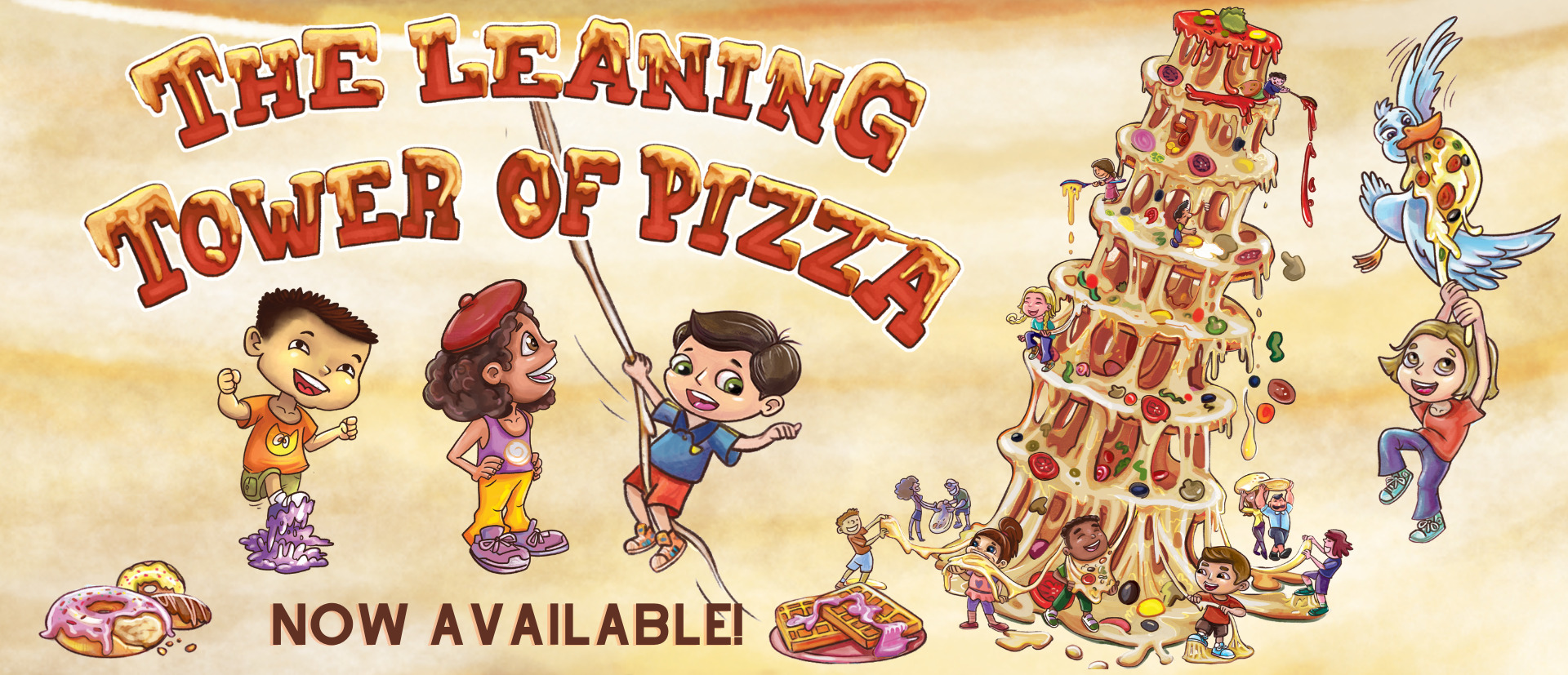 The Leaning Tower of Pizza by Derek Taylor Kent Now Available