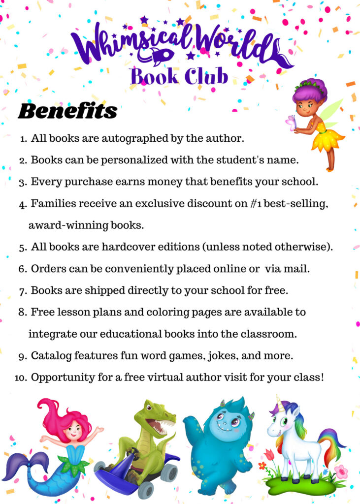 Whimsical World Book Club Benefits
