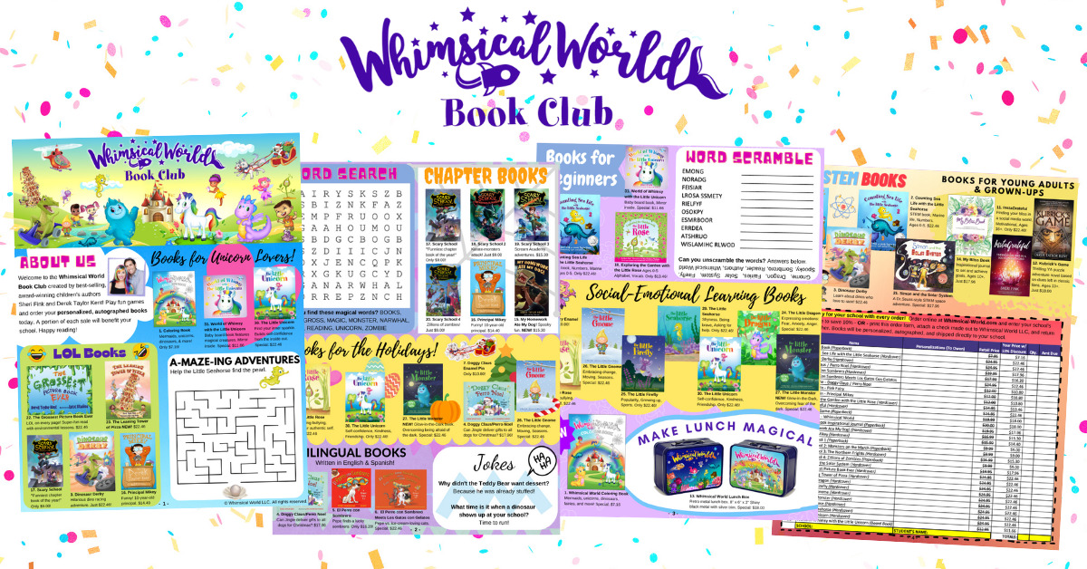 Whimsical World Book Club by Children's Authors Sheri Fink and Derek Taylor Kent